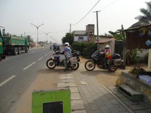 Ralf und Irmela verlassen Lome Richtung Nigeria