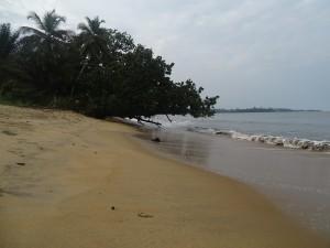 Urlaubsfeeling Strand in der Naehe von Kribi
