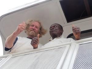 Mit dem Kapitän auf dem Kongofluss