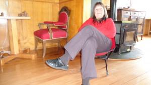 Luisa Ludwig, mein erster Gast auf dem roten Stuhl in Südamerika