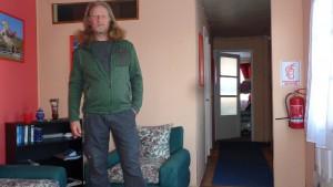 Der Autor im neuen Pullover