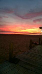 Sonnenuntergang, ehrlich, es war nicht der Sonnenaufgang, über den Rio Pararna,