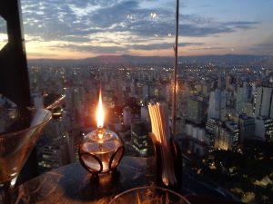 man gönnt sich ja sonst nichts- Blick vom Italian Tower in Sao Paulo