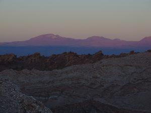 Sonnenuntergang im Valle de Luna